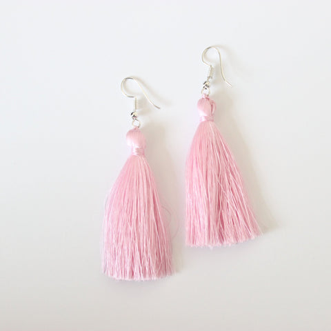 Silk Tassel Earrings - sariKNOTsari slow fashion Hamilton sustainable fashion gifts sari not sari Hamilton Fair trade  Ethical  Artisan made  Zero waste  Up-cycled Slow Fashion  Handmade  GTA Toronto Copper Pure Upcycled vintage silk handmade recycled recycle copper pure silk travel clothing hamilton vacation cruisewear resortwear bathing suit bathingsuit vacation