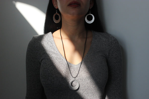 Hoop Necklace - sariKNOTsari slow fashion Hamilton sustainable fashion gifts sari not sari Hamilton Fair Trade  Sustainable  Ethical  Artisan made  Zero waste  Up-cycled Slow Fashion  Handmade  GTA