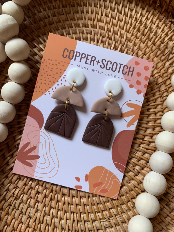 Jada Earrings - sariKNOTsari slow fashion bryn walker linen Hamilton sustainable fashion gifts sari not sari Hamilton Fair trade  Ethical  Artisan made  Zero waste  Up-cycled Slow Fashion  Handmade  GTA Toronto Copper Pure Upcycled vintage silk handmade recycled recycle copper pure silk travel clothing hamilton vacation cruisewear resortwear bathing suit bathingsuit vacation etsy silk clothing gifts gift dress top pants linen bryn walker alive intentions kaarigar elephants
