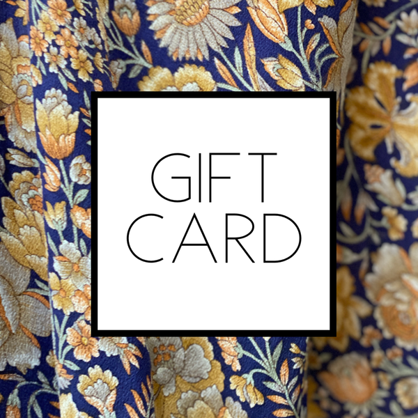 Gift Card - sariKNOTsari slow fashion bryn walker linen Hamilton sustainable fashion gifts sari not sari Hamilton Fair trade  Ethical  Artisan made  Zero waste  Up-cycled Slow Fashion  Handmade  GTA Toronto Copper Pure Upcycled vintage silk handmade recycled recycle copper pure silk travel clothing hamilton vacation cruisewear resortwear bathing suit bathingsuit vacation etsy silk clothing gifts gift dress top pants linen bryn walker alive intentions kaarigar elephants