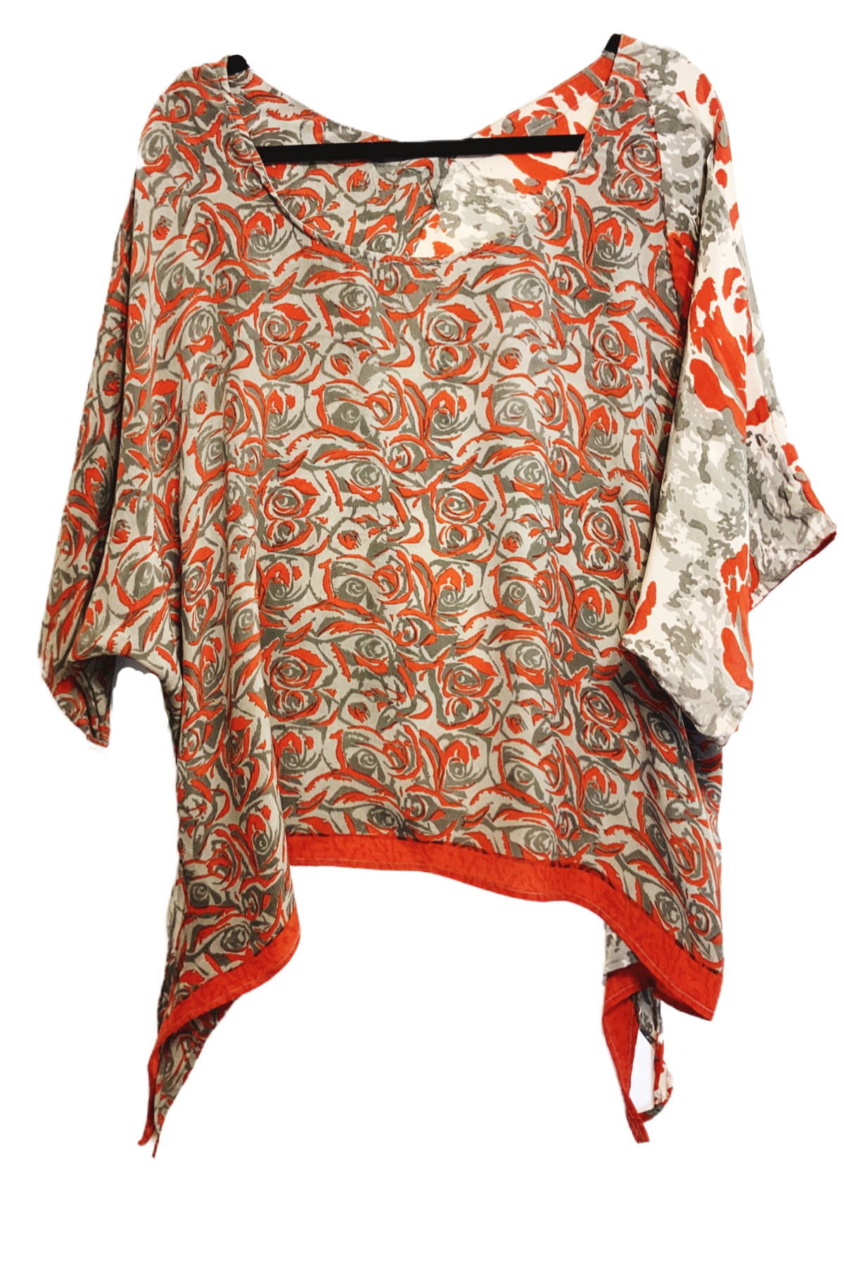 Diana Pure Silk Oversized Shirt with Side Ties - sariKNOTsari slow fashion bryn walker linen Hamilton sustainable fashion gifts sari not sari Hamilton Fair trade  Ethical  Artisan made  Zero waste  Up-cycled Slow Fashion  Handmade  GTA Toronto Copper Pure Upcycled vintage silk handmade recycled recycle copper pure silk travel clothing hamilton vacation cruisewear resortwear bathing suit bathingsuit vacation etsy silk clothing gifts gift dress top pants linen bryn walker alive intentions kaarigar elephants