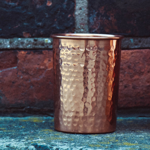 Pure Copper Tumbler - sariKNOTsari slow fashion bryn walker linen Hamilton sustainable fashion gifts sari not sari Hamilton Fair trade  Ethical  Artisan made  Zero waste  Up-cycled Slow Fashion  Handmade  GTA Toronto Copper Pure Upcycled vintage silk handmade recycled recycle copper pure silk travel clothing hamilton vacation cruisewear resortwear bathing suit bathingsuit vacation etsy silk clothing gifts gift dress top pants linen bryn walker alive intentions kaarigar elephants
