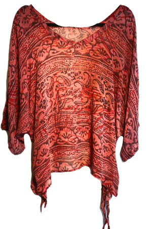 Banquo Pure Sheer Silk Oversized Shirt with Side Ties