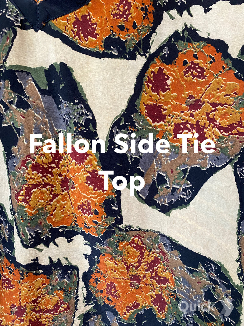 Fallon Pure Silk Side Tie Top - sariKNOTsari slow fashion bryn walker linen Hamilton sustainable fashion gifts sari not sari Hamilton Fair trade  Ethical  Artisan made  Zero waste  Up-cycled Slow Fashion  Handmade  GTA Toronto Copper Pure Upcycled vintage silk handmade recycled recycle copper pure silk travel clothing hamilton vacation cruisewear resortwear bathing suit bathingsuit vacation etsy silk clothing gifts gift dress top pants linen bryn walker alive intentions kaarigar elephants