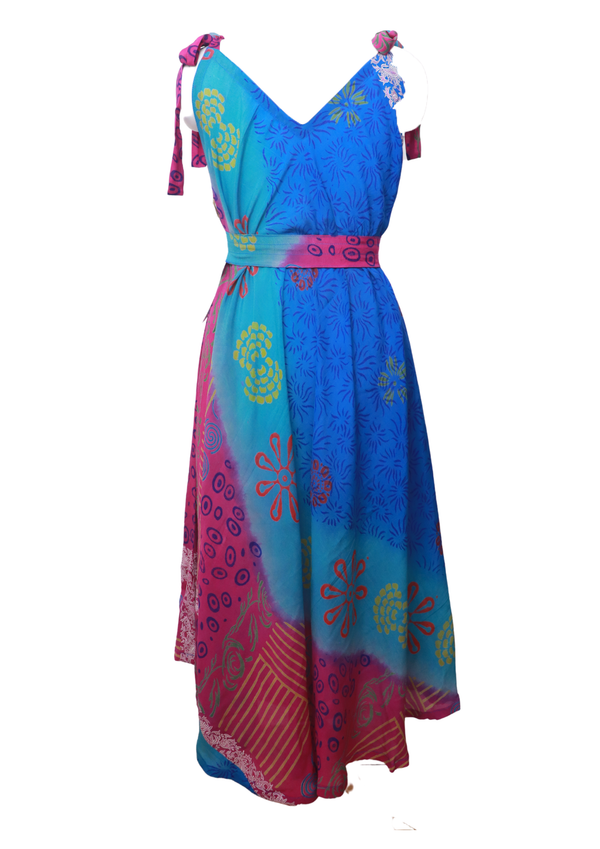 PRC025 Pure Silk Maxi Dress with Belt