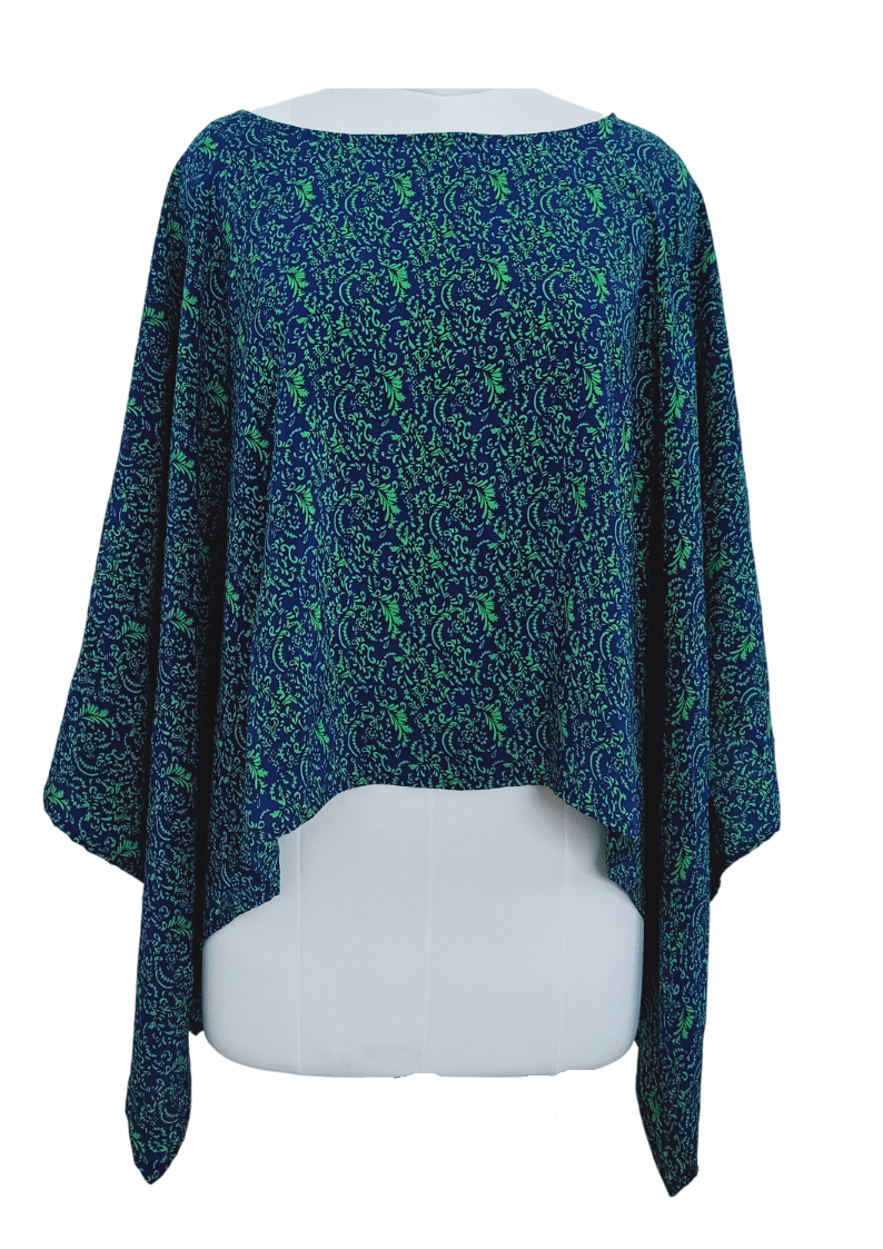 Christy Pure Silk Capelet Poncho