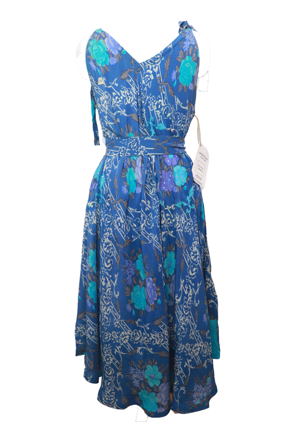 PRC024 Pure Silk Maxi Dress with Belt