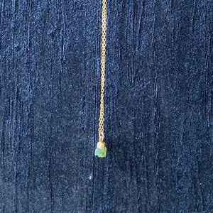 Raw Peridot Dainty Necklace
