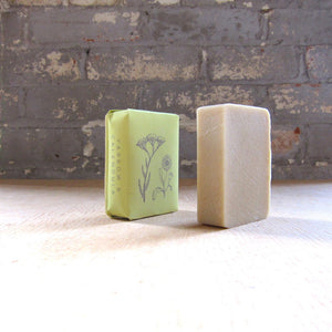 Yarrow & Candula Soap - sariKNOTsari slow fashion bryn walker linen Hamilton sustainable fashion gifts sari not sari Hamilton Fair trade  Ethical  Artisan made  Zero waste  Up-cycled Slow Fashion  Handmade  GTA Toronto Copper Pure Upcycled vintage silk handmade recycled recycle copper pure silk travel clothing hamilton vacation cruisewear resortwear bathing suit bathingsuit vacation etsy silk clothing gifts gift dress top pants linen bryn walker alive intentions kaarigar elephants