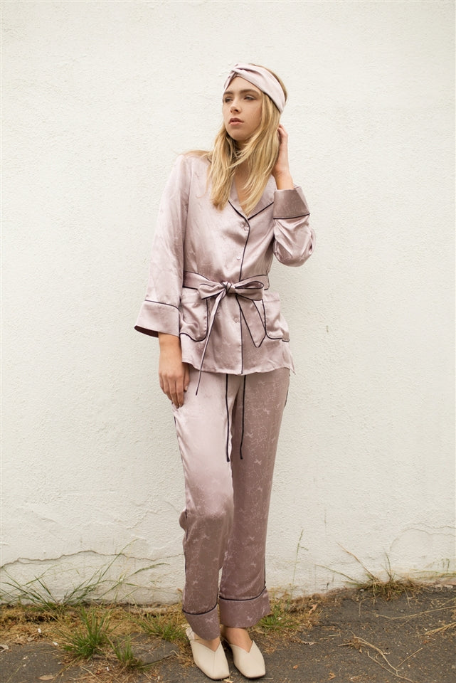 Daydreamer Jacquard Pajamas Set - Violet Ice