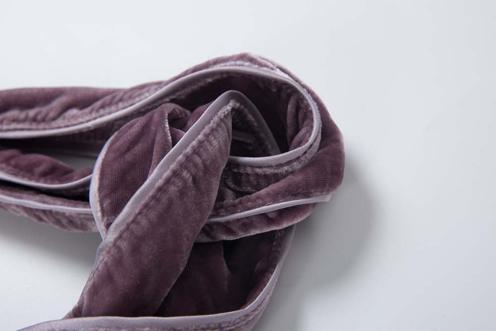 Silk-Velvet Turban -Mauve Sea Fog
