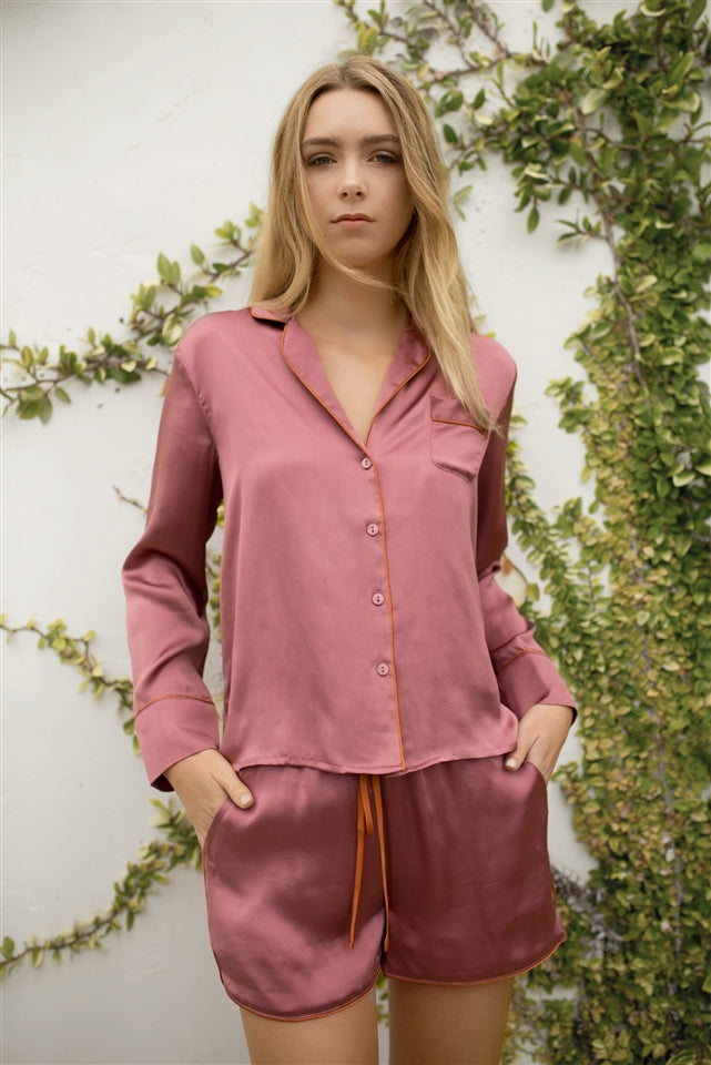 Soft Inside Nightshirt Set - Roan Rouge