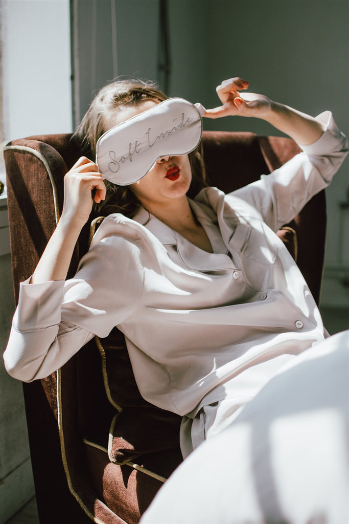 Silk Eyemask + Pillowcase Travel Set-Evening Sand