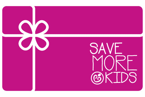 Save More Kids Gift Card
