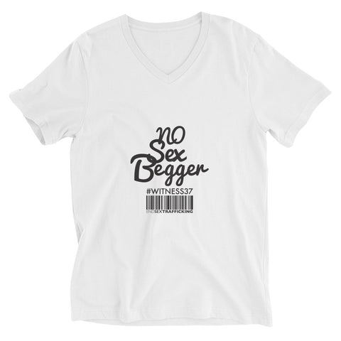No Sex Begger Unisex Short Sleeve V-Neck