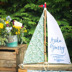 Custom Fabric Driftwood Sailboat - 18