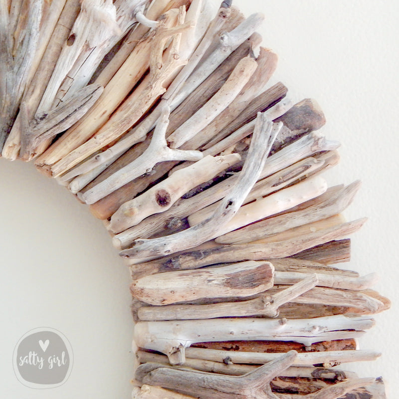 "30"" Natural Driftwood Wreath Wall Decor by Maine Artist Cherie Herne"