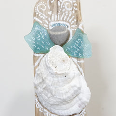 Angel Sea Glass Christmas Tree Topper for Driftwood & Evergreen Trees