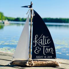 Driftwood Sailboat Centerpiece - Large 18