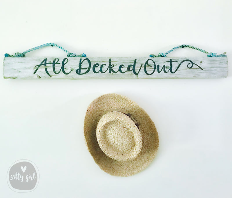 Large Custom Driftwood Sign with Rope Hanger