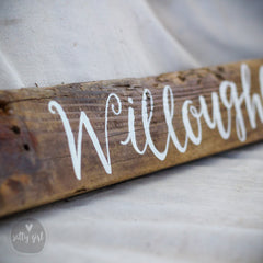 Driftwood Sign with Fishing Rope Hanger - Personalized Sign