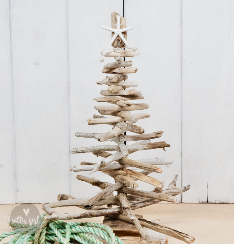 "24"" Driftwood Christmas Tree Kit with Twinkle Lights"