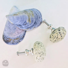 Beach Stone Knobs - Set of 2 Natural Maine Rock Knobs