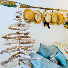 4 Foot Maine Driftwood Christmas Tree with Starfish Top