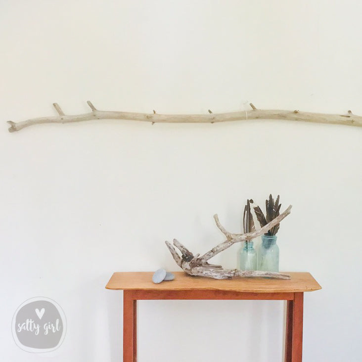 Long Driftwood Branch for Coastal Wall Decor
