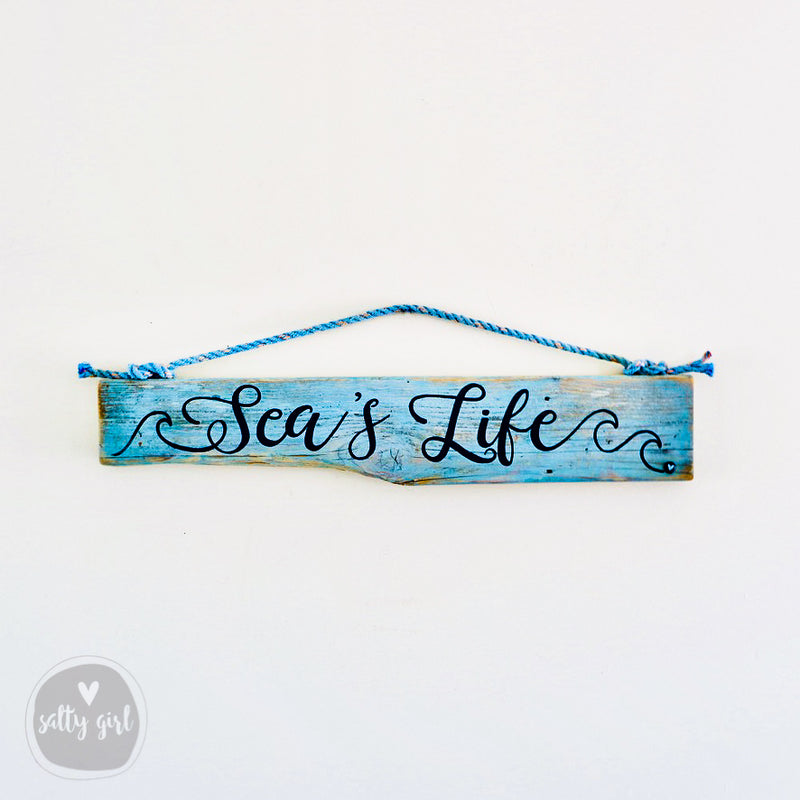 Outdoor Personalized Patio Sign - Driftwood with Rope Hanger