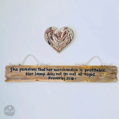 Driftwood Heart Collage with Rope Frame