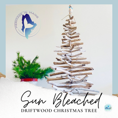Large Driftwood Christmas Tree with Tree Topper - 5-6 Foot Driftwood Tree