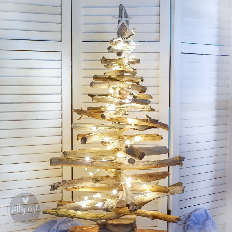 Twinkle Lights for Driftwood Christmas Tree