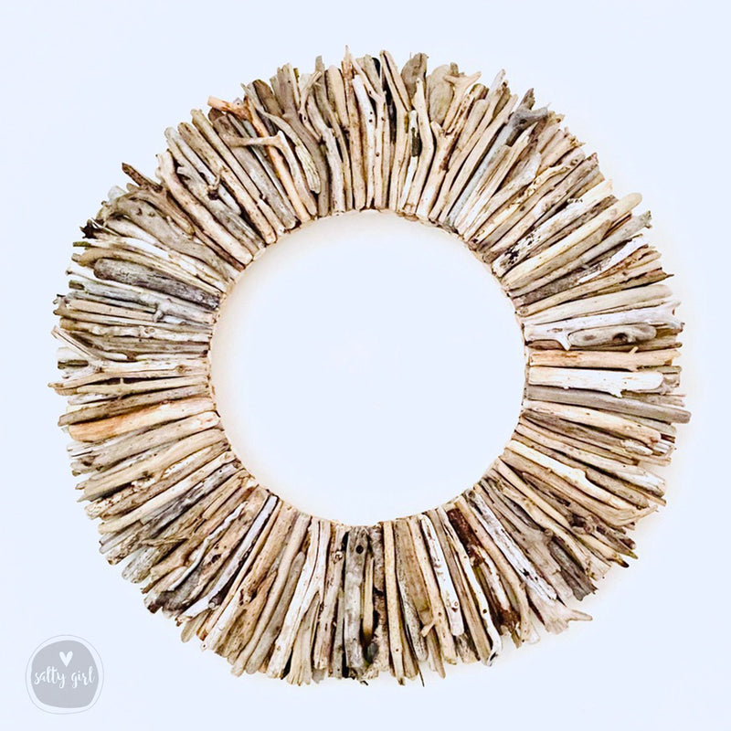 "Natural Driftwood Wreath - Sizes 12"" or 16"" 