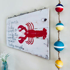 Large Coastal Summer Cottage Wall Art Sign