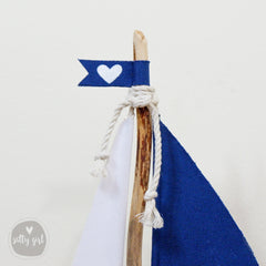 Driftwood Sailboat Centerpieces - Wedding Table Number Boats
