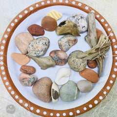 Himalayan Salt Candle & Maine Beach Treasures Gift Box - Spa Gift - Beach Gift - Friendship Gift - Thinking of You Gift - Send a Gift