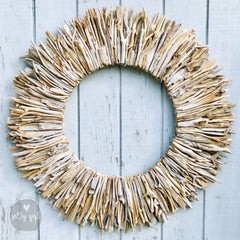Driftwood Wreath Wall Decor with Natural Sun-Bleached Tones 30 - 42