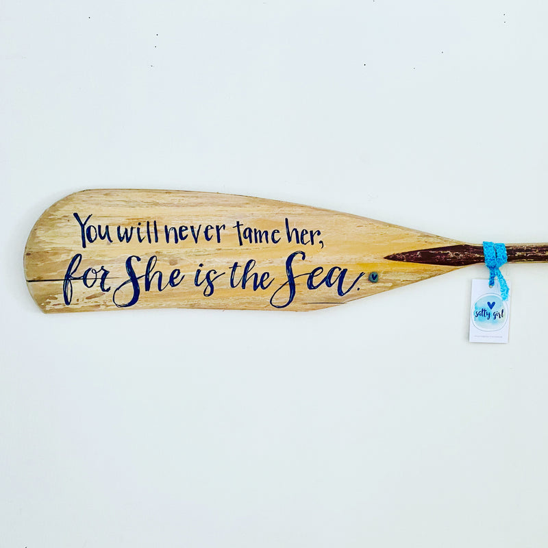 Personalized Hand Painted Boat Oar - Painted Boat Paddle - Nautical Wall Art