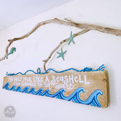 Large Driftwood Sign - Bedroom Headboard with Fishing Rope Hanger