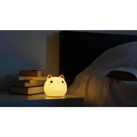 Image of Lampe Chat - Veilleuse Chat Led - www.lechatquiboude.com