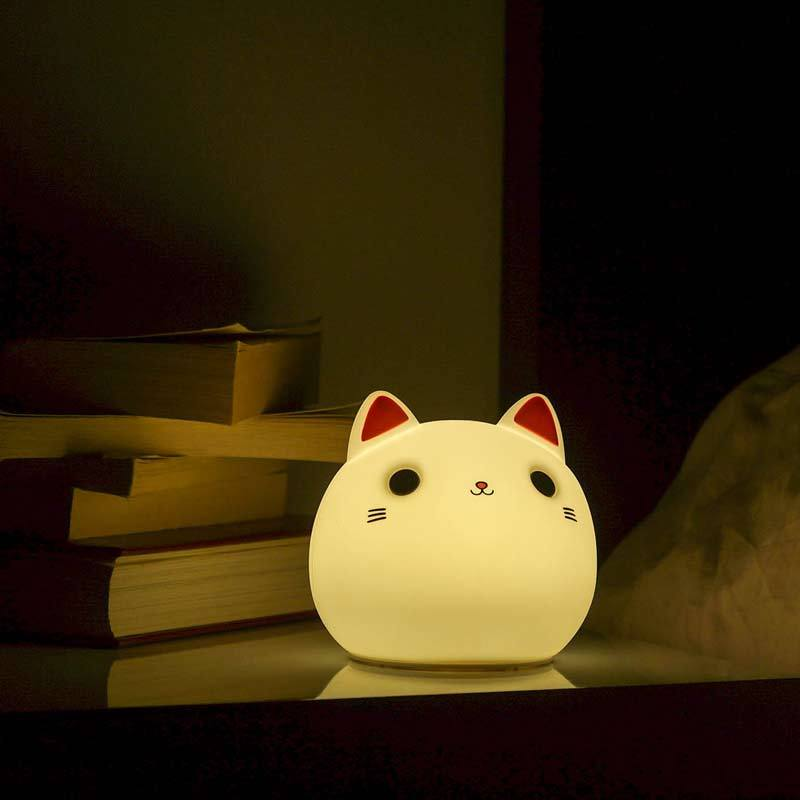 Lampe Chat - Veilleuse Chat Led - www.lechatquiboude.com