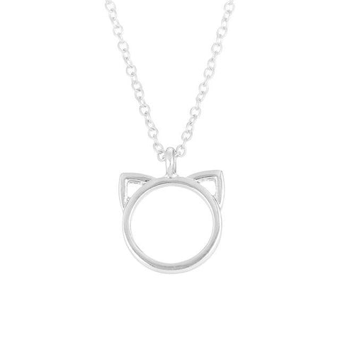 Image of Pendentif Chat Minimaliste couleur Or - LeChatQuiBoude