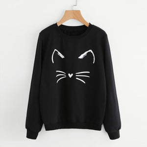 Sweat-shirt Pull Chat Minimaliste - www.lechatquiboude.com