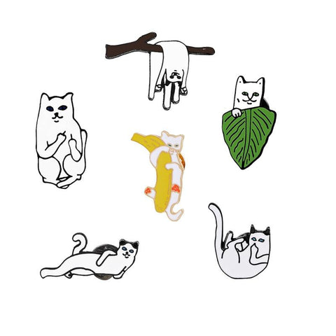 Image of Pins Chat - Broche chat - LeChatQuiBoude