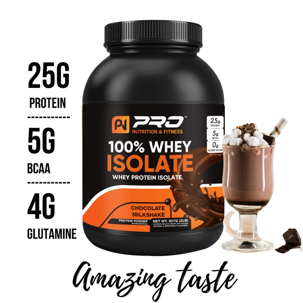 100% Whey Protein Isolate for Muscle Growth- 25g Protein per serving