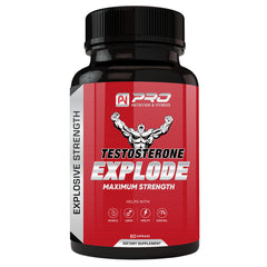Testosterone Explode - Maximum Strength Natural Stamina & Strength Booster - 60 Caplets