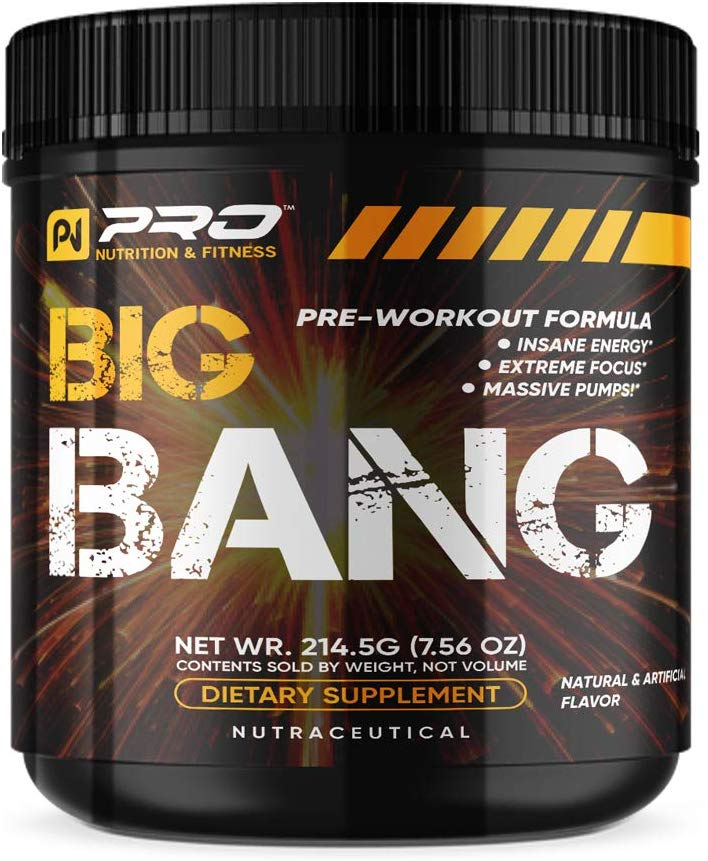 Big Bang Pre-Workout, Amazing Pumps, Insane Energy & Endurance with Nitric Oxide Boosters