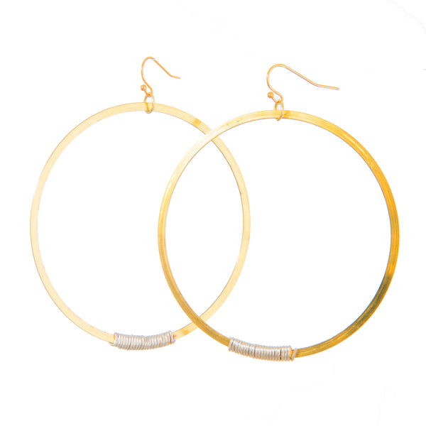 14k Gold Plated Slinky Super Hoopys