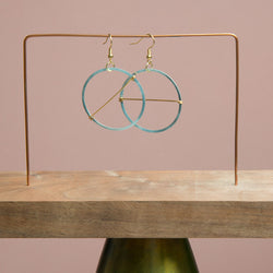 Mini Hemi Hoopy Earrings, with Brass Wire